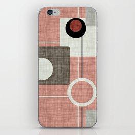 Orbs & Squares Pink iPhone Skin