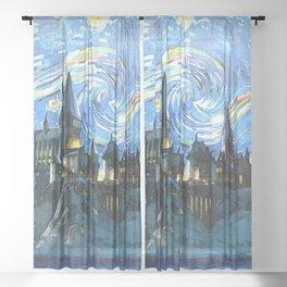 Night Castle Sheer Curtain