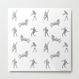 The Secret Life of Bigfoot Metal Print