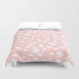 Pink Coral Spotty Dots Duvet Cover