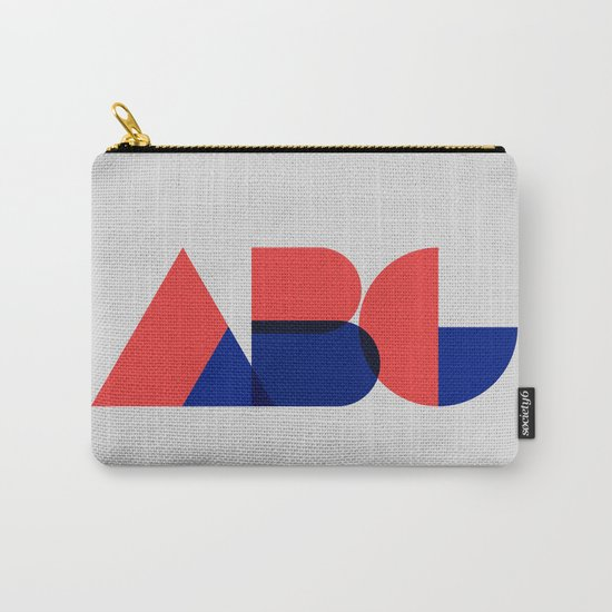 Geometric ABC Carry-All Pouch