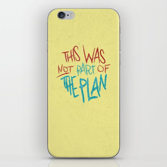 THE PLAN iPhone & iPod Skin