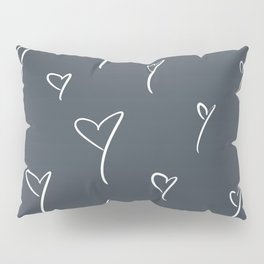 Blue-Gray Hearts Pillow Sham
