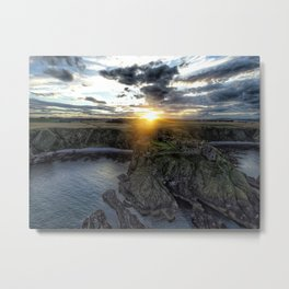Sunsets in Scotland Metal Print
