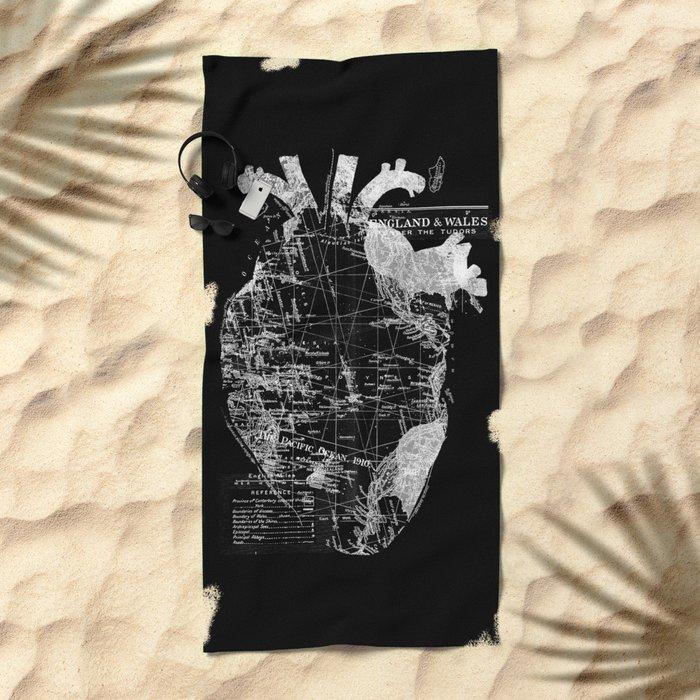 Heart Wanderlust Beach Towel