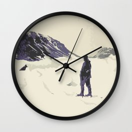 Winter's best friends Wall Clock