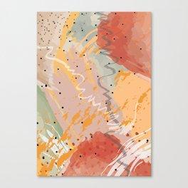 Summer Sunshine Yellow Pattern Canvas Print