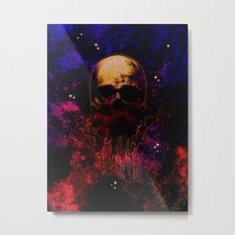 Cosmic Destiny Skull Illustration Metal Print