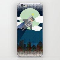bat man iPhone & iPod Skins featuring Bat Man by voskovski