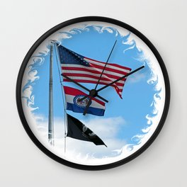 Iron County Flags Wall Clock