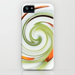 Lily stamen twirled iPhone Case