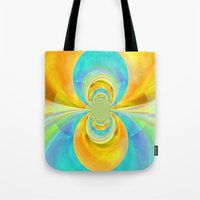 happiness Tote Bags featuring Happiness by lillianhibiscus