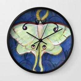 Deco Luna, Art Deco Inspired Luna Moth Wall Clock