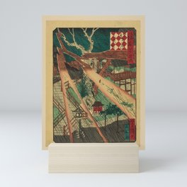 Utagawa Yoshitaki - 100 Views of Naniwa: Sankō Shrine (1880s) Mini Art Print