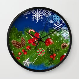 Christmas decoration Wall Clock