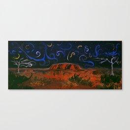 Uluru by Night Canvas Print