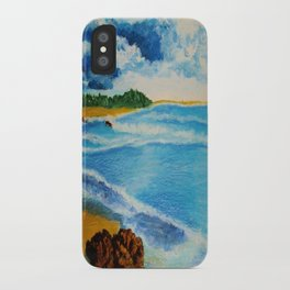 Cloudy Beach iPhone Case