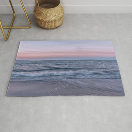 Pastel beach sunset Rug