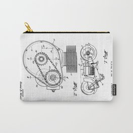 Motorcycle Patent Art Carry-All Pouch
