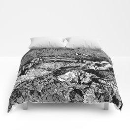 Remains of Prehistoric Man Comforters