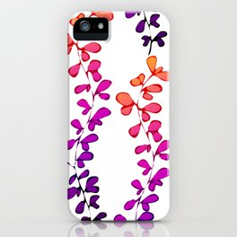 Multi-coloured leaves pattern iPhone Case