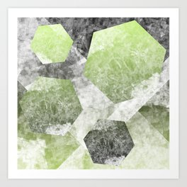 flatland 2 (green) Art Print