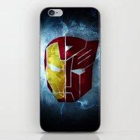 transformer iPhone & iPod Skins featuring Iron man x Transformer by Joe Fletcher