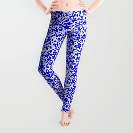 Tiny Spots - White and Blue Leggings