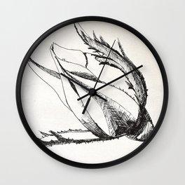 rosebud drawing Wall Clock