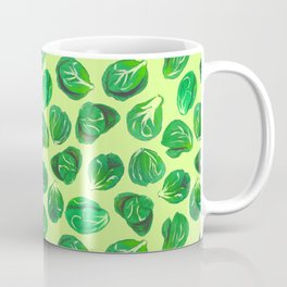 Brussel sprouts pattern for veggie lovers Coffee Mug