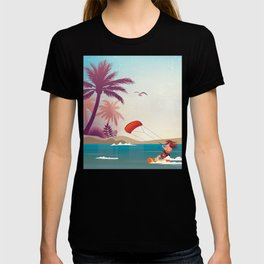 Kite surfer Woman Theme T-shirt