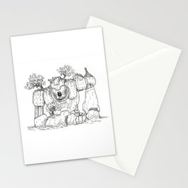 Overgrown Robot Stationery Cards