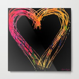 Messy hearts light the dark. Metal Print