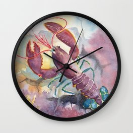 Under The Sea - Colorful Lobster Wall Clock