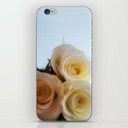Rose white iPhone Skin