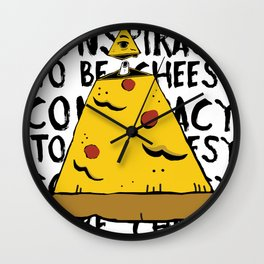 The all seeing slice Wall Clock