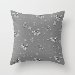 Gray hearted Throw Pillow