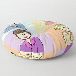 Golden Girls Character Combo Floor Pillow