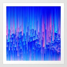Glitchier Rain Art Print