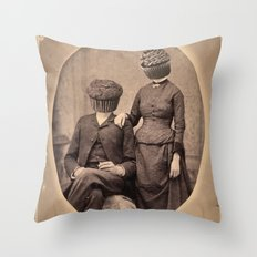 Vintage Muff Diving Throw Pillow