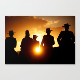 Golden pilgrims Canvas Print