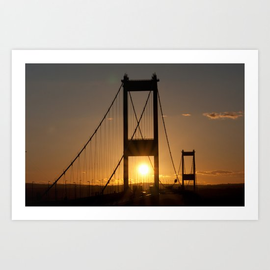 Severn Bridge Sunset Art Print