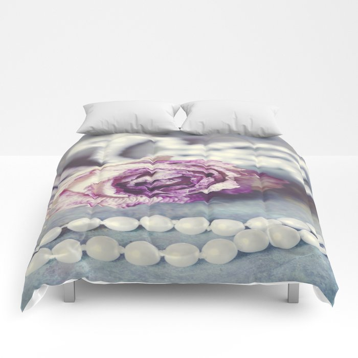 Pearls and Rose Comforters