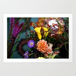 a gathering of flowers Art Print