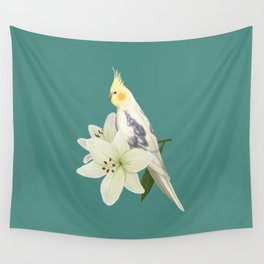 Pied Cockatiel Wall Tapestry
