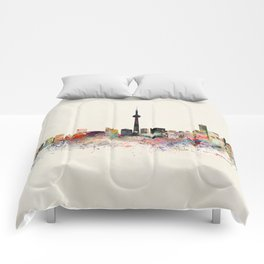 toronto skyline Comforters