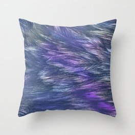 Abstract Indigo Waves Throw Pillow