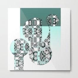 Adinkra (rectangles and circles) Metal Print