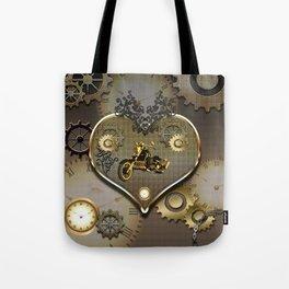 Steampunk, motorcycle Tote Bag