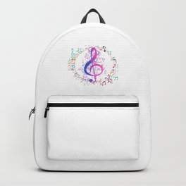 Treble Clef In A Circle Of Music Notes Backpack